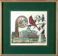 Framed North Carolina Heritage Color Print
