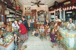 The Soda Fountain & Brantley Pharmacy 1000 pc. Puzzle