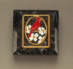 Dogwood and Cardinal Paperweight