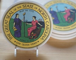 NC Great Seal Coaster Set of 4,CS0150
