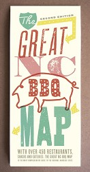 The Great NC BBQ Map/Folded