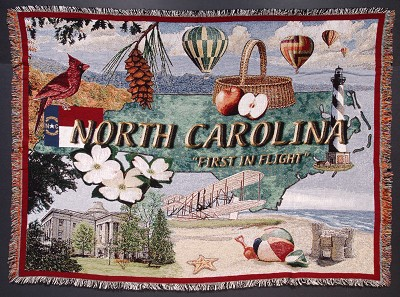 North Carolina Theme Throw,NC-T