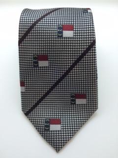 Silver NC Flag Tie,9011