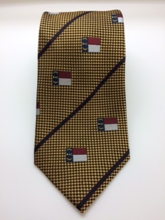 Gold NC Flag Tie,9011