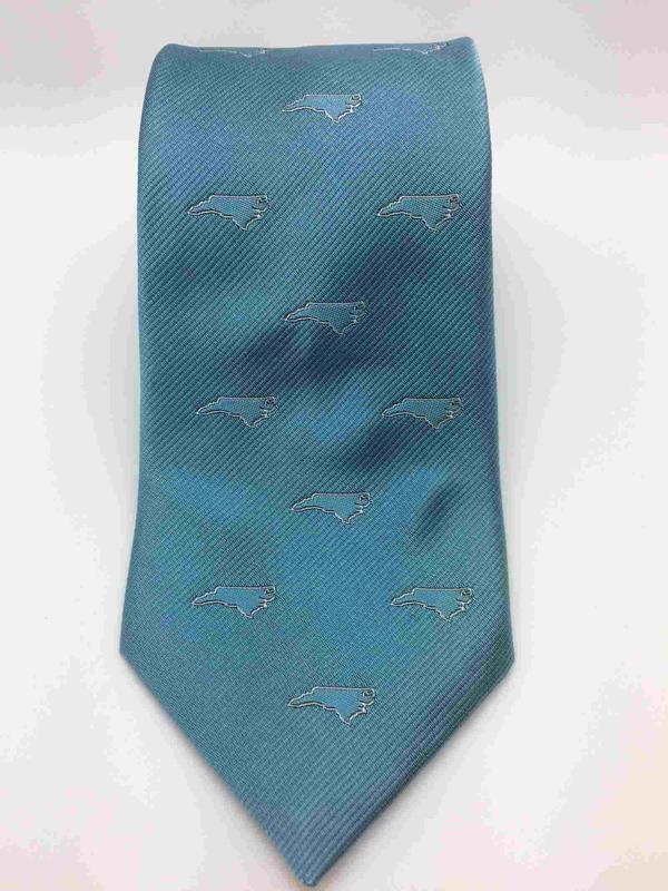 Lt. Blue NC Outline Tie