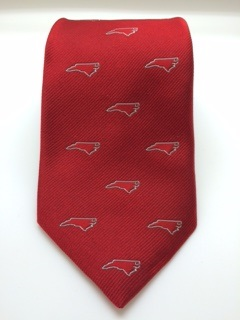 Red NC Outline Tie