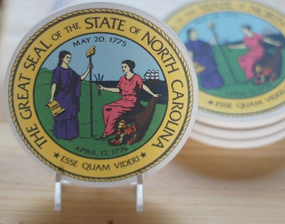 NC Great Seal Coaster Set of 4,CS0151
