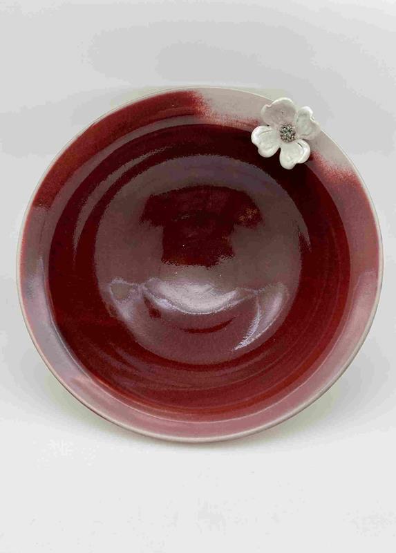 Large Dogwood Bowl/Red