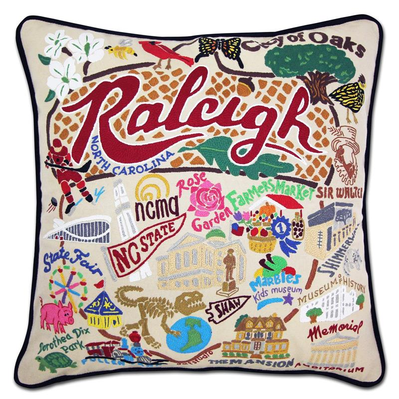 Raleigh Embroidered Pillow