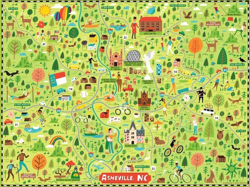 Asheville NC Jigsaw Puzzle,TSCS01