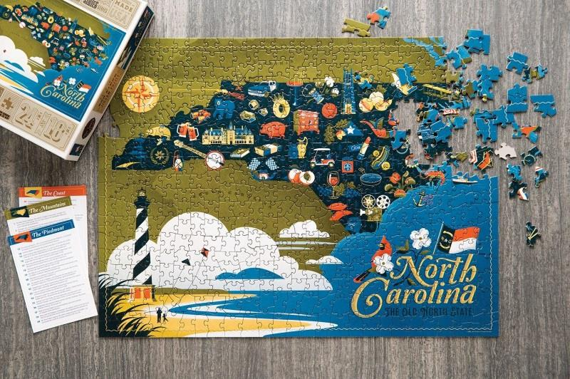 North Carolina Jigsaw Puzzle,TSDTS12