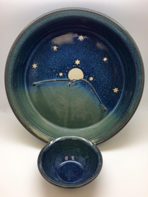 Rising Moon Chip & Dip Platter