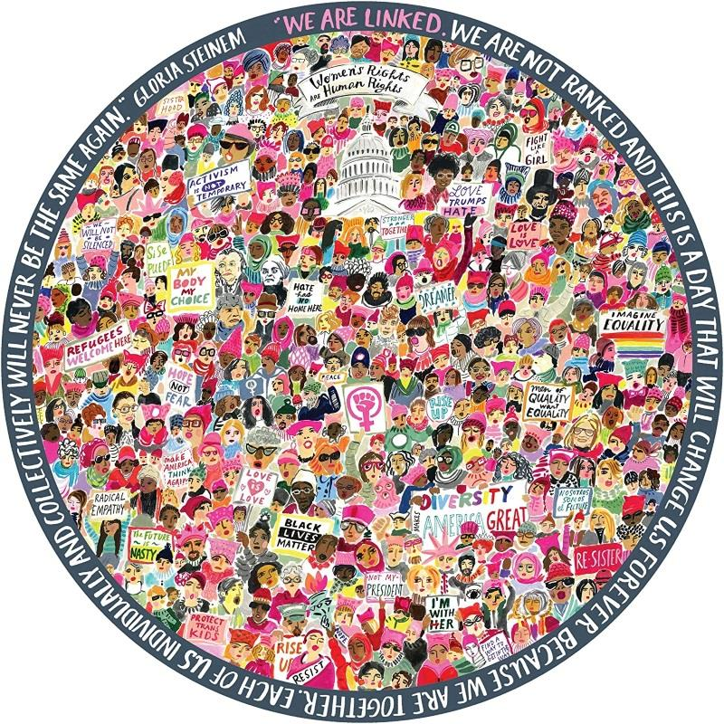 Women March! 500 piece Round Puzzle,PZFWM