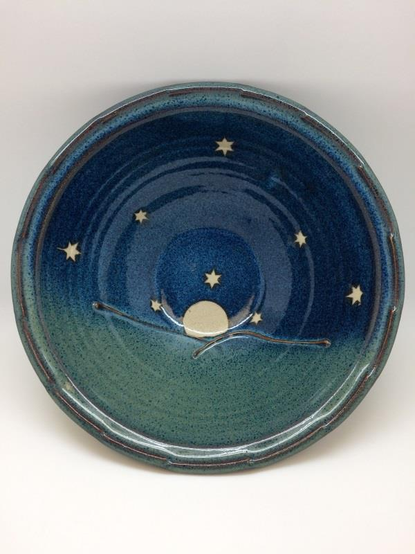 Rising Moon Medium Fluted Serving Bowl