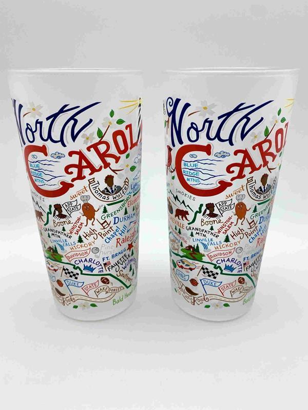 Set 2/North Carolina Souvenir Glasses,043GL NC/SET2