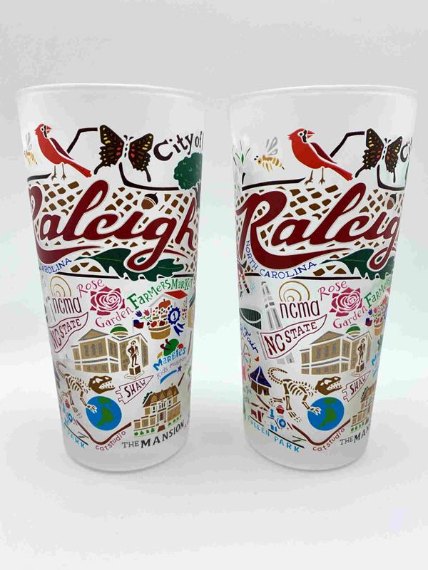 Set 2/Raleigh Souvenir Glasses