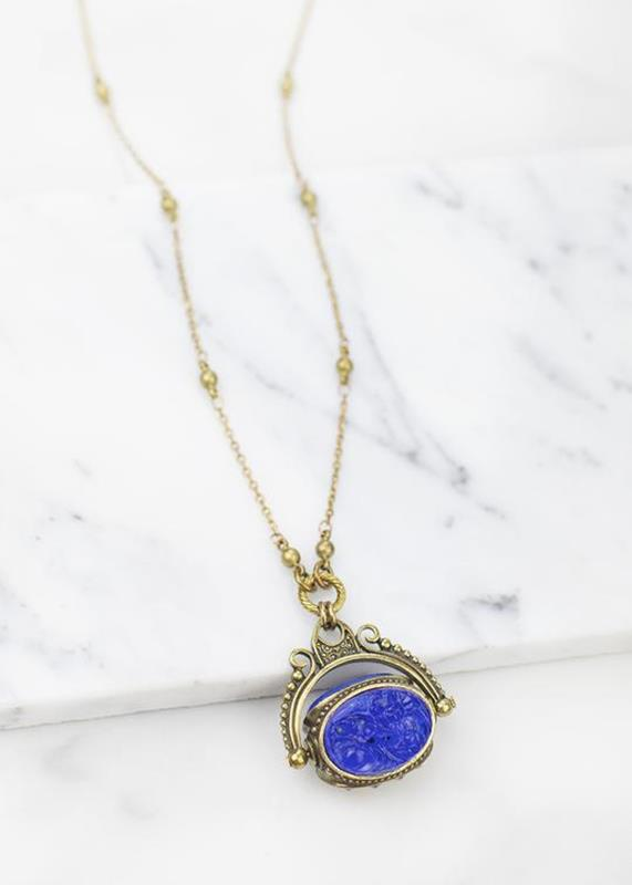 Sapphire Spinner Necklace,01-N917B